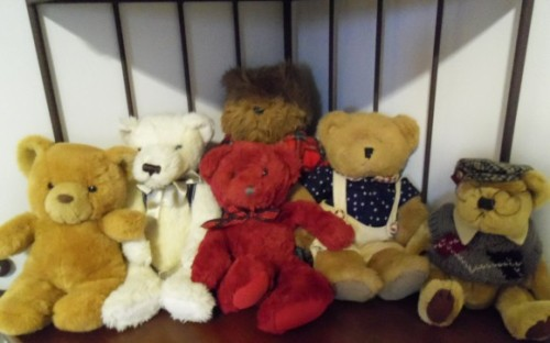 Here are some of my teddy bears.